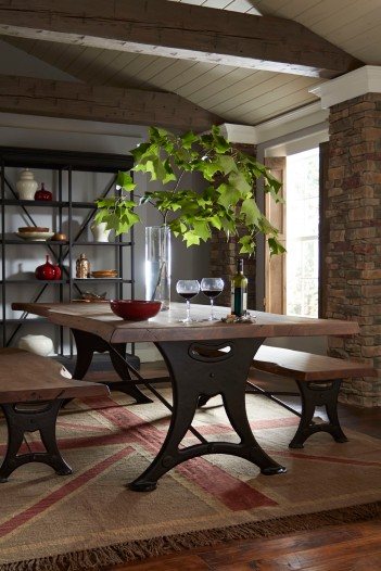 Organic Forge Dining Table and Bench