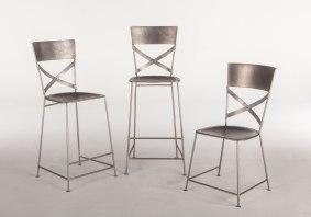 Industrial Loft Chairs in Nickel