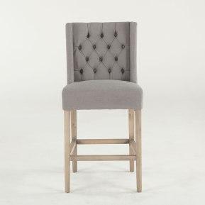 Lara Counter Chair in Oxford Warm Grey